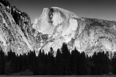 Marc Silber-half dome BW