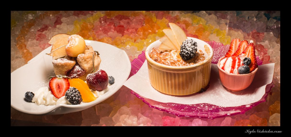 ©Kyle Nishioka - Peach cobbler - plum & cherry cup pie