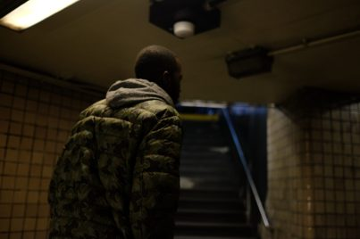 Bronx, NY Oct. 12, 2014 Travis leaves the subway station. Photo by M.B. Elian