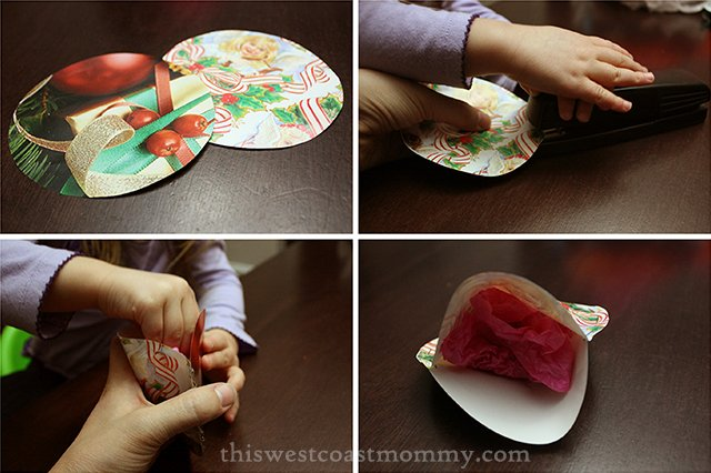 Christmas Crafts For Kids Make Quick And Simple Wrapping Paper Ornaments From Ss