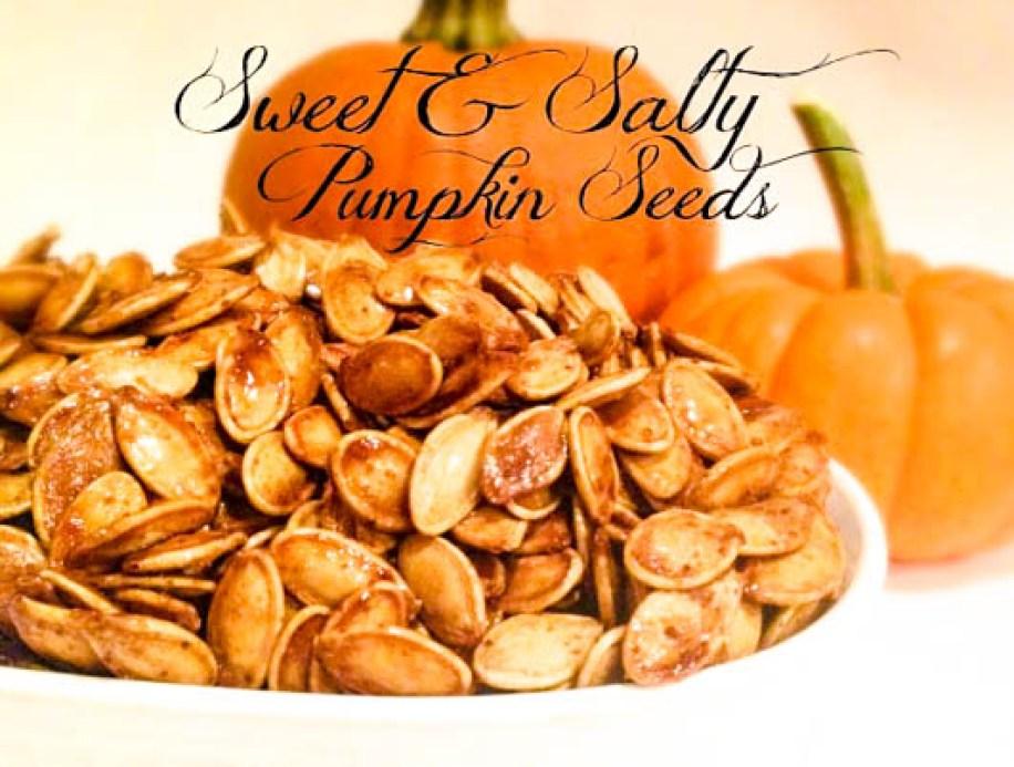 Sweet & Salty Pumpkin Seeds | thiswifecooks.com