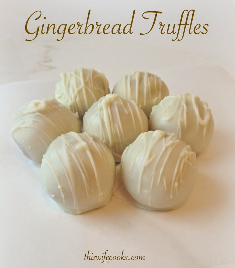 3-Ingredient Gingerbread Truffles | thiswifecooks.com