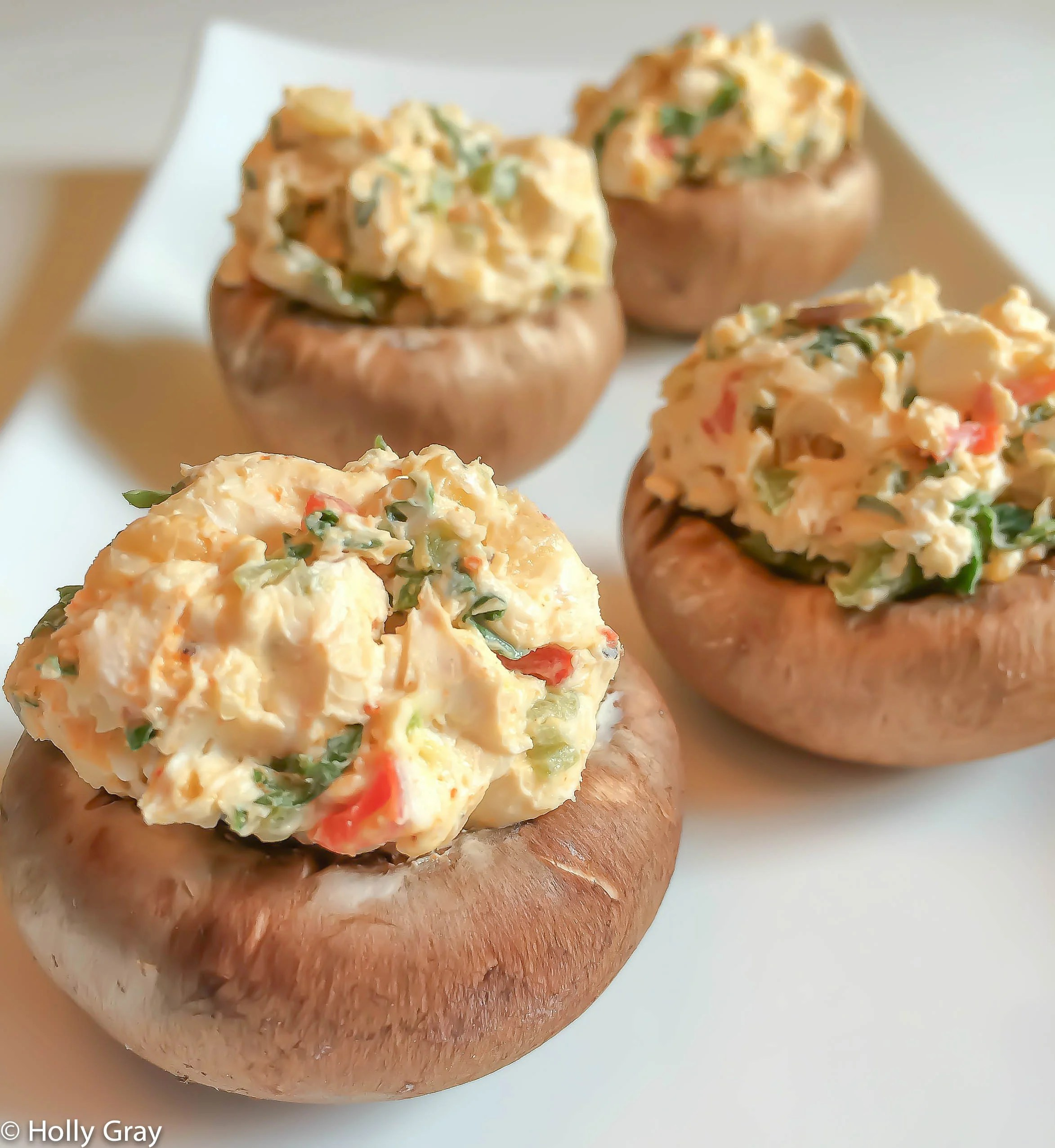Cajun Spiced Stuffed Mushrooms