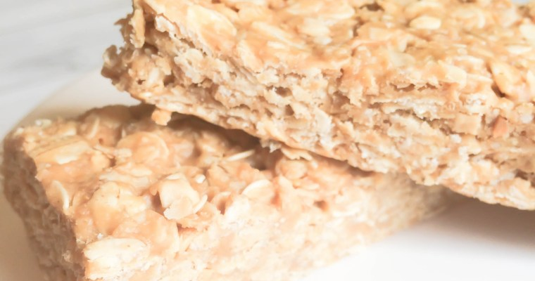 Peanut Butter Honey and Oatmeal Bars
