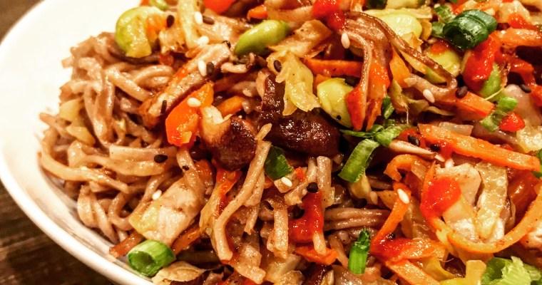Ginger Veggie Noodle Stir-Fry