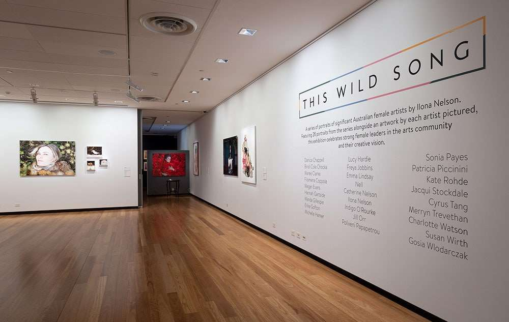 This Wild Song Exhibition At Town Hall Gallery - Install Shots.