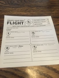 Pick 4 beers for a flight-$9.