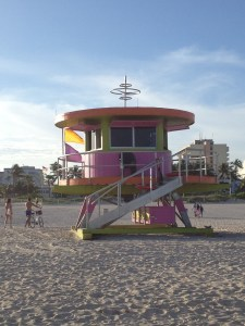 Lifeguard stations on South Beach