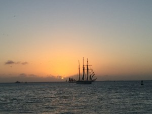 Sunset from Mallory Square (taken with hundreds of other bodies behind us!)