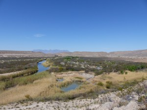 Rio Grande Village campground from above