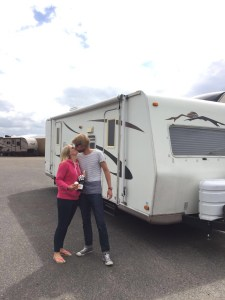 Kissing goodbye to the trailer for now...