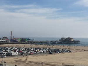 Santa Monica pier parking - can you spot us?
