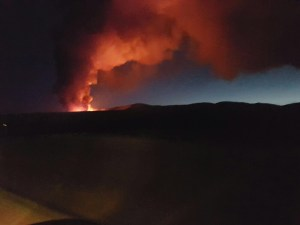 Photo credit to Tommy - the fire from the road