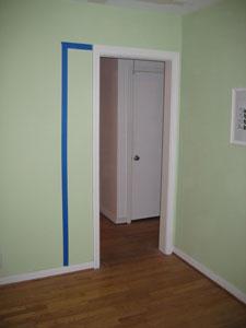 Taped off doorway