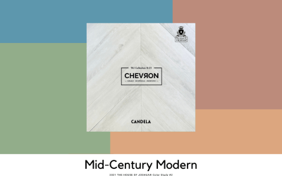 2021 Color Study #2 – Mid-Century Modern – THE HOUSE OF JOSHUA® N.01 Chevron collection's CANDELA