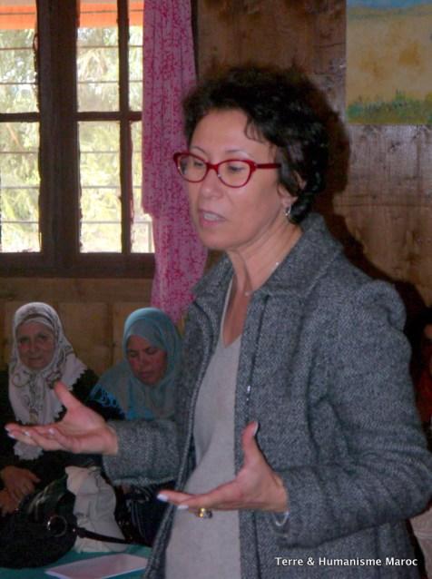 Intervention de Leïla Rhiwi (ONU Femmes) et ses impressions sur le projet femmes semencières