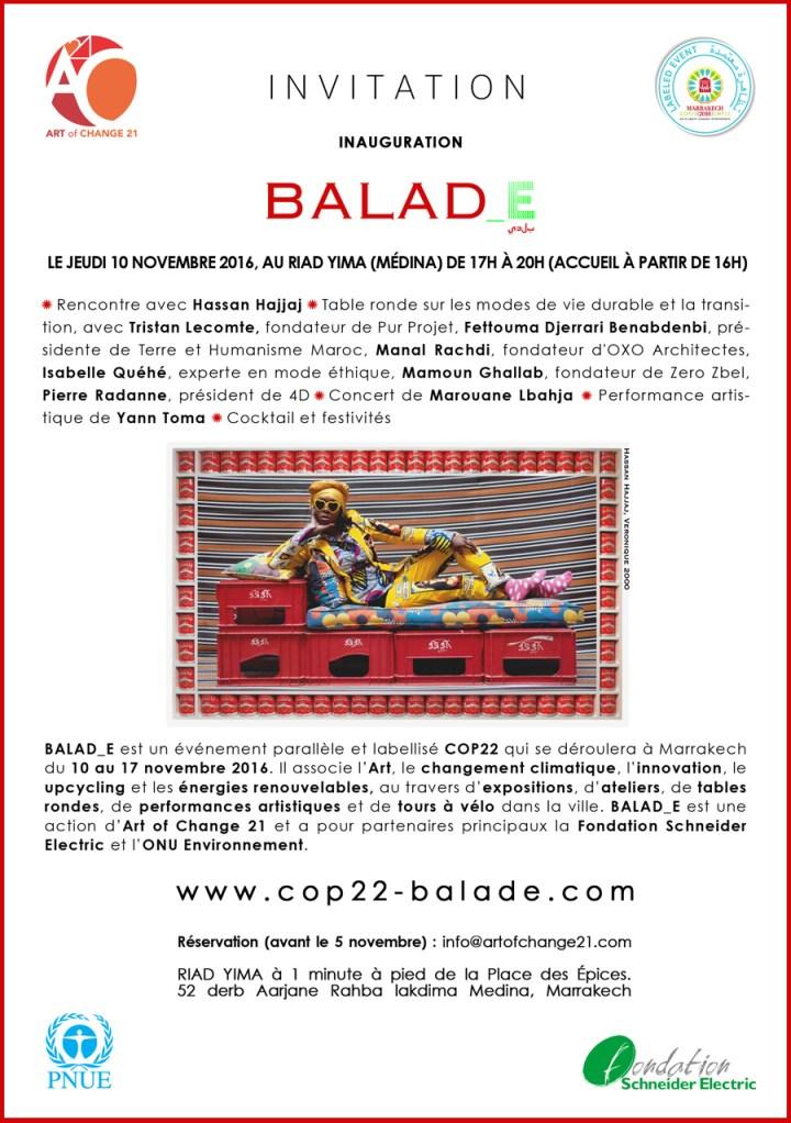 COP22 et THM, Intervention de Fettouma Djerrari à Balade by Art of change Marrakech