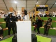 09 Novembre Myriam Drissi membre actif de THM anime un side event à la Cop22 les femmes semencières