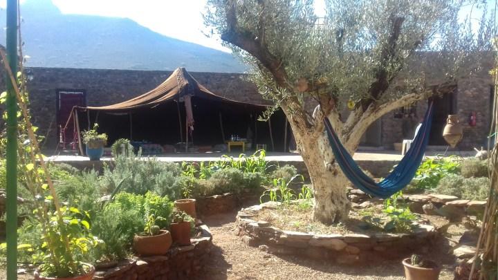 Tente du CIPA prête à accueillir le Forum de la terre