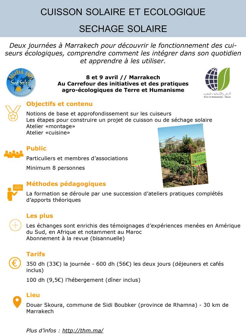 Stage de Cuisson écologique Maroc Thm