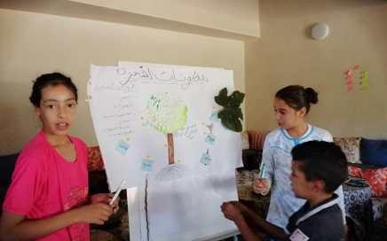 Atelier Initiation au jardin potager pour le enfants du Douar Skoura