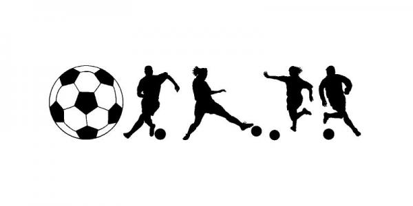 Soccer Players Sports Shapes Vinyl Wall Decals Sticky