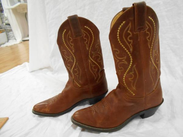 JUSTIN Mid Calf 12quot Tall WOMENS Brown Leather CLASSIC