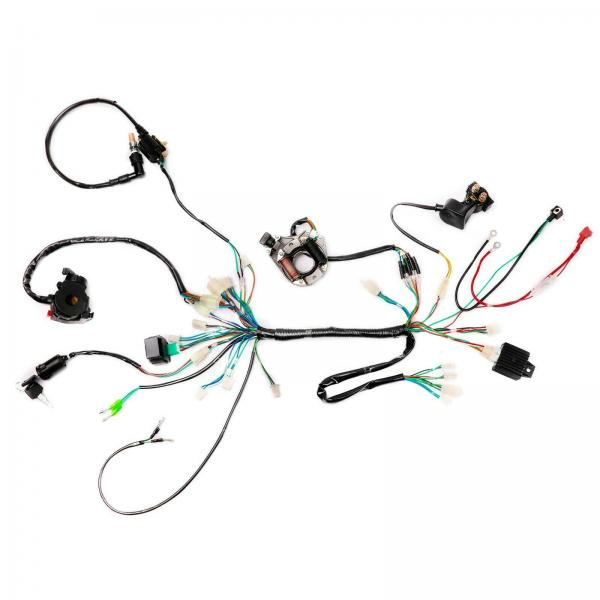 Wiring Harness Loom Solenoid Coil CDI Kit For ATV Quad