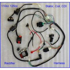 70cc Quad Bike Wiring Diagram Origami Eagle Instructions Complete Electrics 250cc Ohc.zongshen Loncin Magneto,coil Harness Cdi Sa