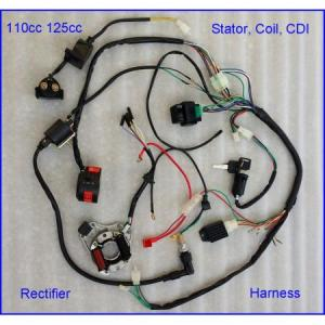 Full Electrics Wiring Harness Coil CDI 50CC 70 110CC ATV