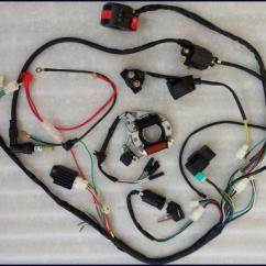 Lifan 110cc Atv Wiring Diagram Theatre Globe Theater Full Electrics Harness Cdi Coil Quad Bike Buggy Gokart | Ebay