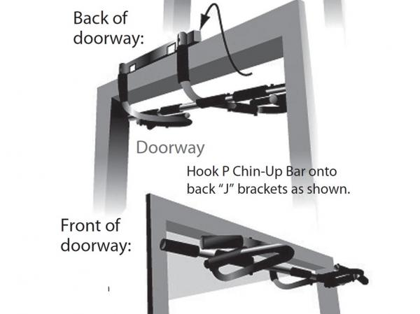 New Deluxe Doorway Pull Up Chin Up Bar Home Gym Single