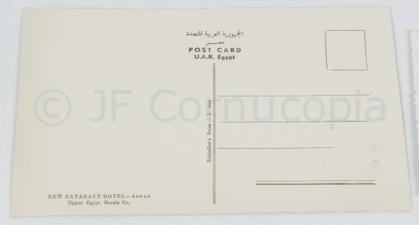 1964 EGYPT TRIP ITEMS HOTEL RECEIPTS MENUS PHOTOS RPPC