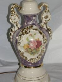 old antique hand painted porcelain table lamp Limoges ...