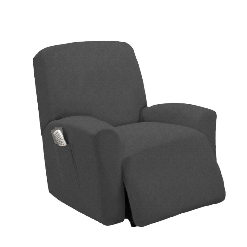 STRETCHFIT GRAY RECLINER SLIPCOVER CHAIR SLIP COVER COUCH