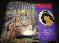 Disney Aladdin-PRINCESS JASMINE-Twin Sheet 3pc Set-Fabric ...