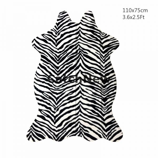 Zebra Cow Leopard Giraffe Animal printed Hide Rug Mat 3