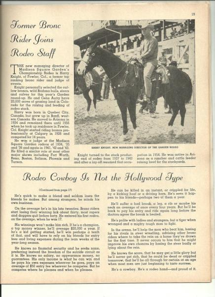 1959 Madison Square Garden Rodeo Program  eBay