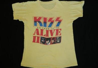 Vintage Kiss Alive Ii 2 Tour 78 T Shirt M Ebay