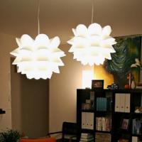 NIP IKEA KNAPPA Pendant Lamp White Ceiling Soft Mood Light ...