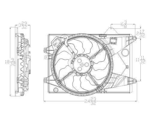 2012-2014 Chevrolet Sonic 1.8L L4 Dual Radiator