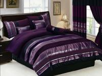 Silver And Purple Bedding