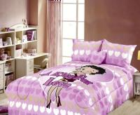 New Betty Boop Comforter+Fitted Sheet Set Twin Purple