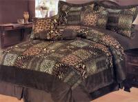 7 Pieces Leopard Animal Print Microfiber Bedding Comforter ...