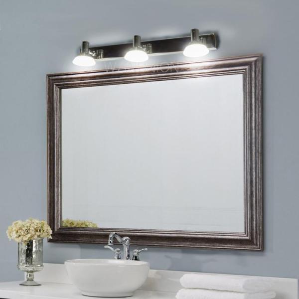 modern led bathroom lighting Modern LED Mirror Stainless Bathroom Vanity Light Wall