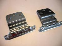 """Vintage CHROME HINGES For 3/8"""" Inset overlapping Cabinet ..."""