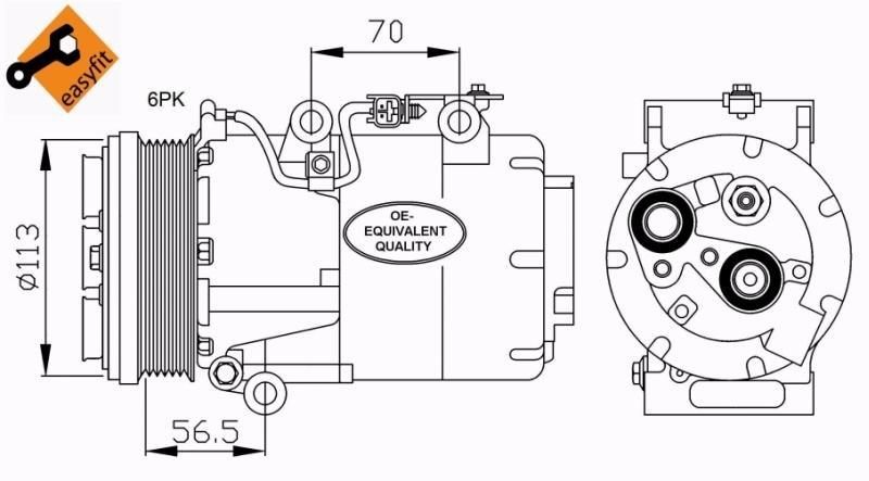Compresor de Aire Acondicionado de Ford Focus y C-Max 1