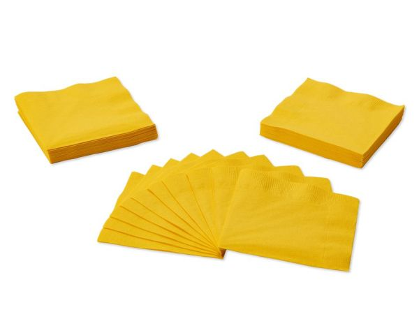 Yellow Beverage Napkins 50Count American Greetings