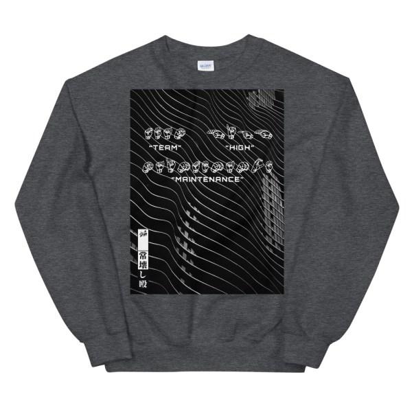 Sign language heather grey sweatshirt