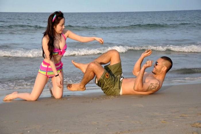 Tình yêu bất diệt - Quỳnh Nga mặc bikini, hôn đắm đuối Doãn Tuấn